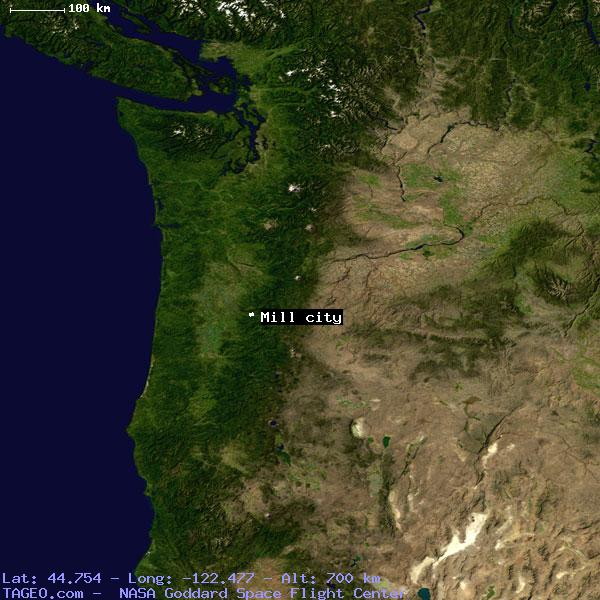 Mill City Oregon Map.Mill City Oregon United States Geography Population Map Cities
