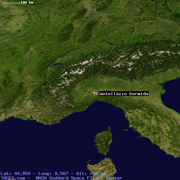 CASTELLAZZO BORMIDA ITALY (GENERAL) ITALY Geography Population Map