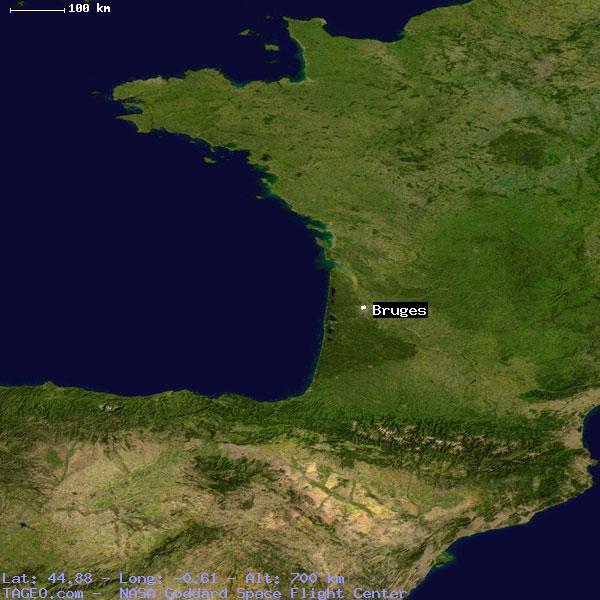 Bruges France Map.Bruges Gironde France Geography Population Map Cities Coordinates