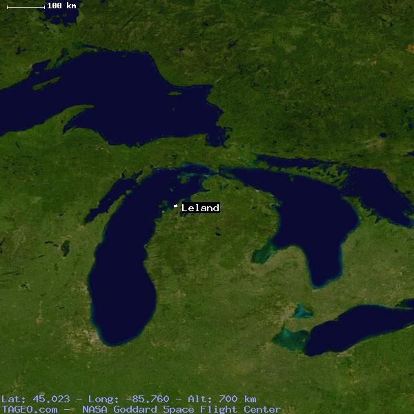 Leland Michigan United States Geography Population Map Cities