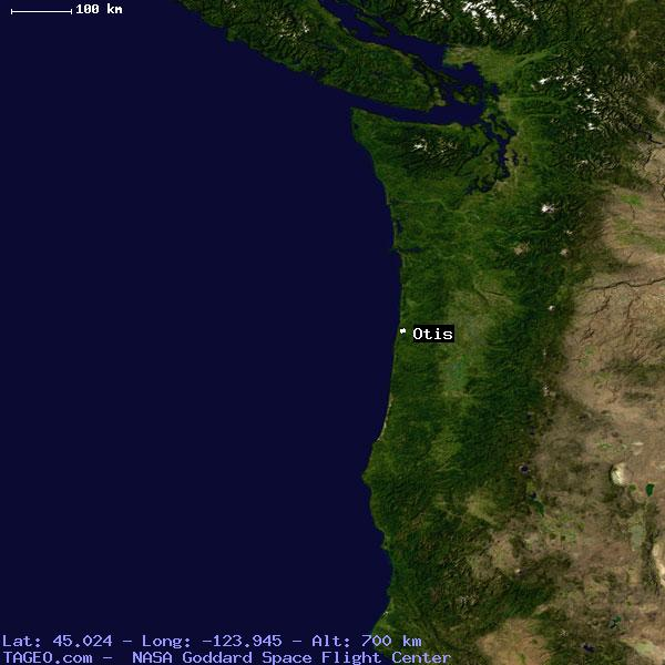 Otis Oregon United States Geography Population Map Cities