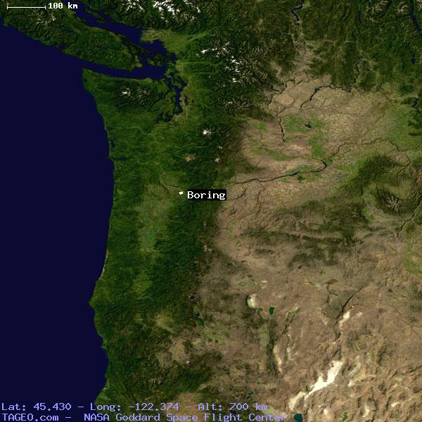 Boring Oregon United States Geography Population Map Cities