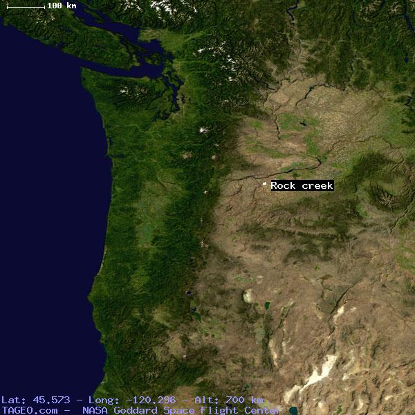 Rock Creek Oregon United States Geography Population Map Cities