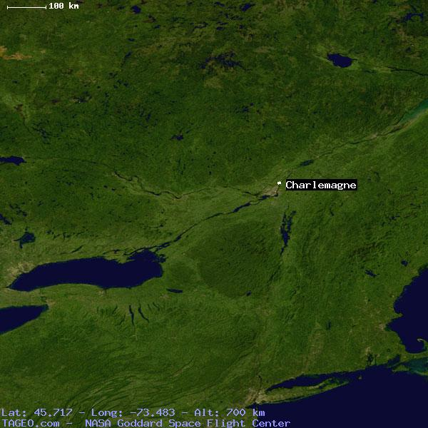 Charlemagne Canada Map CHARLEMAGNE QUEBEC CANADA Geography Population Map cities