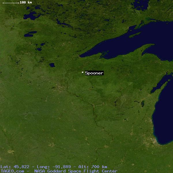 Spooner Wisconsin United States Geography Population Map Cities