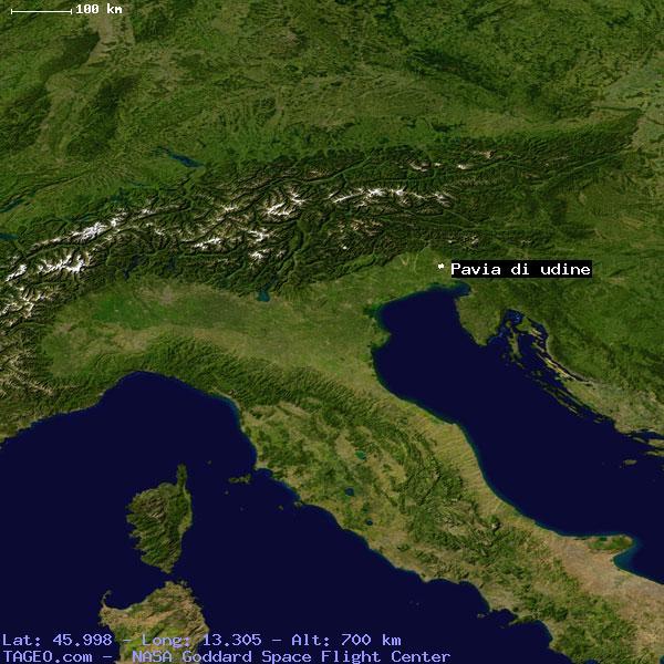 PAVIA DI UDINE FRIULIVENEZIA GIULIA ITALY Geography Population - Udine map