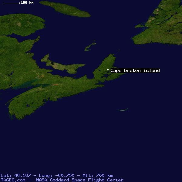 CAPE BRETON ISLAND NOVA SCOTIA CANADA Geography Potion Map ... on