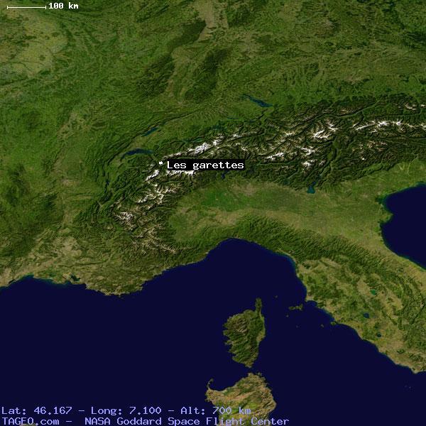 LES GARETTES SWITZERLAND (GENERAL) SWITZERLAND Geography Population Map  cities coordinates location - Tageo.com