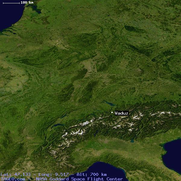 Vaduz liechtenstein general liechtenstein geography population map satellite view of vaduz publicscrutiny Gallery
