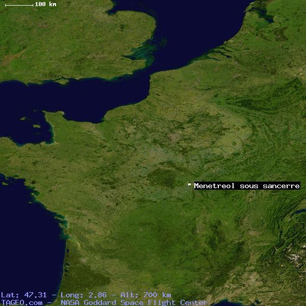 Sancerre France Map.Menetreol Sous Sancerre Cher France Geography Population Map Cities