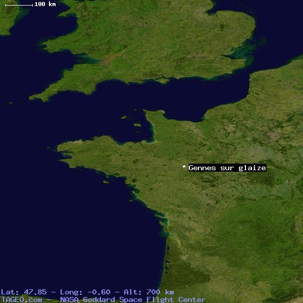 GENNES SUR GLAIZE MAYENNE FRANCE Geography Population Map cities