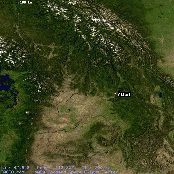 Athol Idaho United States Geography Population Map Cities