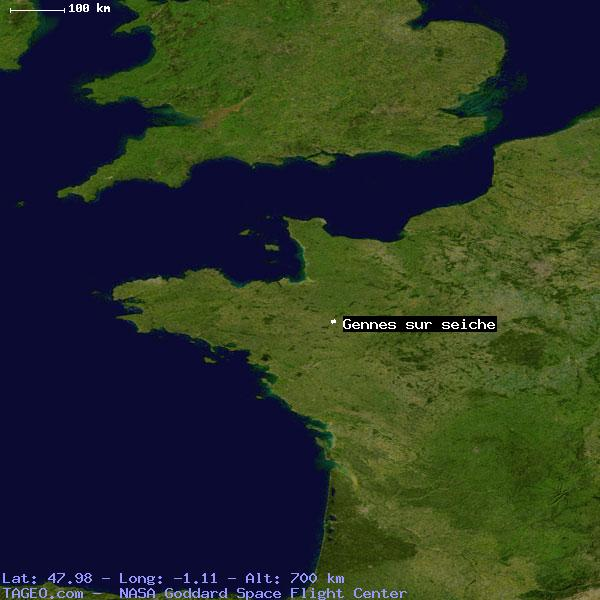 GENNES SUR SEICHE ILLE ET VILAINE FRANCE Geography Population Map