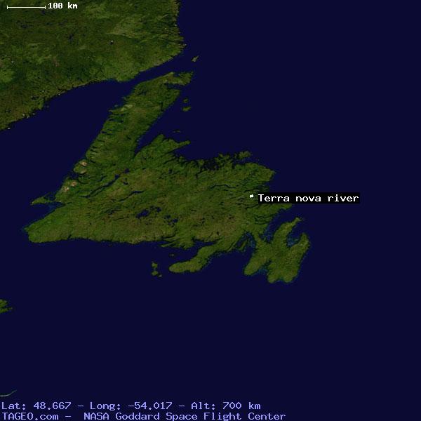 Terra Earth Map.Terra Nova River Newfoundland Canada Geography Population Map Cities