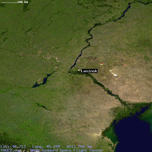 LENINSK VOLGOGRADSKAYA OBLAST RUSSIA Geography Population Map - Leninsk map