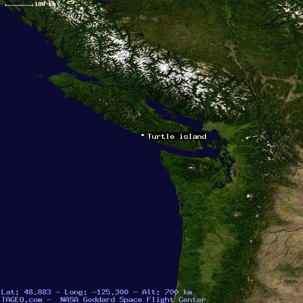 Turtle Island Canada Map TURTLE ISLAND BRITISH COLUMBIA CANADA Geography Population Map