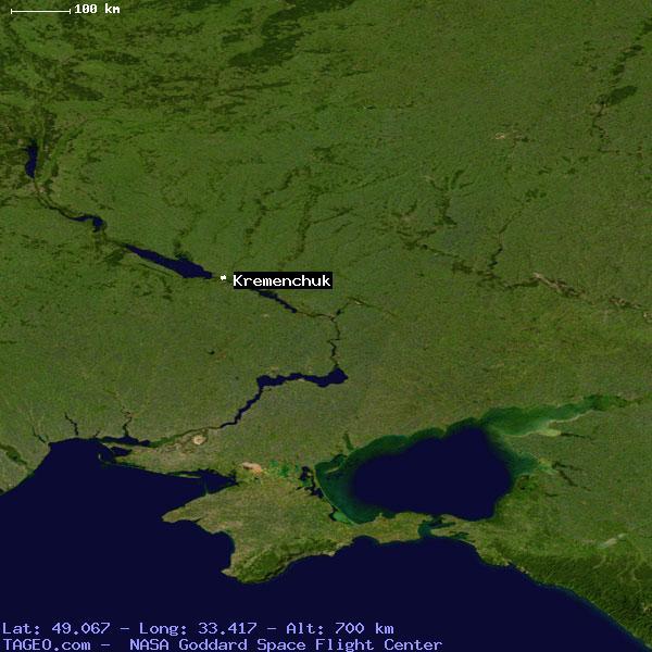 KREMENCHUK UKRAINE GENERAL UKRAINE Geography Population Map - Kremenchuk map