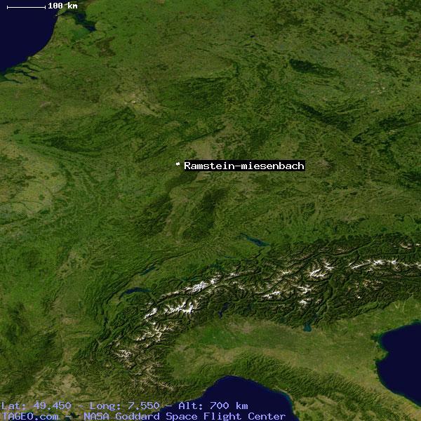RAMSTEINMIESENBACH RHEINLANDPFALZ GERMANY Geography Population - Germany map ramstein