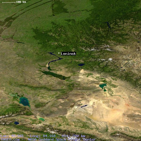 LENINSK KAZAKHSTAN GENERAL KAZAKHSTAN Geography Population Map - Leninsk map