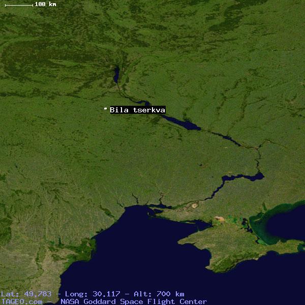 BILA TSERKVA KYYIVSKA OBLAST UKRAINE Geography Population Map - Bila tserkva map