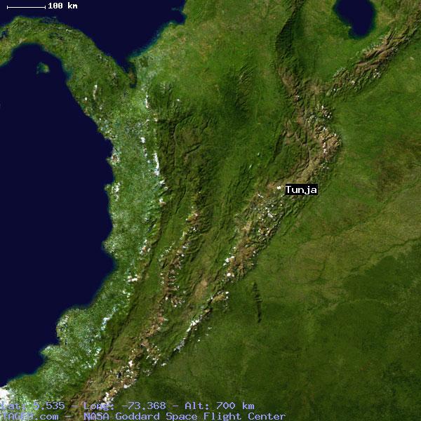 TUNJA BOYACA COLOMBIA Geography Population Map Cities Coordinates - Tunja map