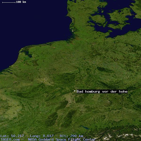Bad Homburg Germany Map.Bad Homburg Vor Der Hohe Hessen Germany Geography Population Map