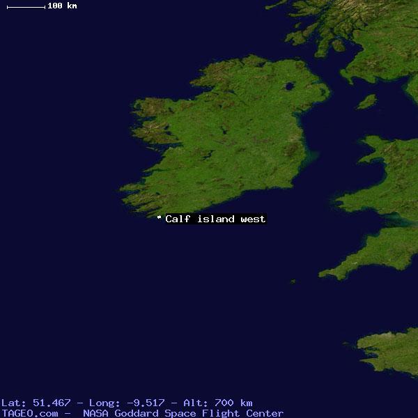 CALF ISLAND WEST IRELAND GENERAL IRELAND Geography Population - Calf map