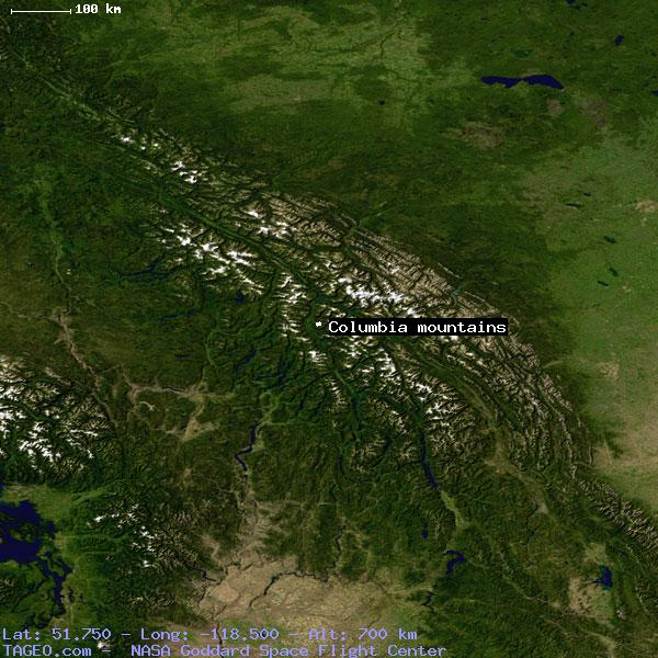 Columbia Canada Map.Columbia Mountains British Columbia Canada Geography Population Map