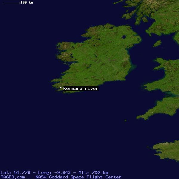 Kenmare River Ireland General Ireland Geography Population Map