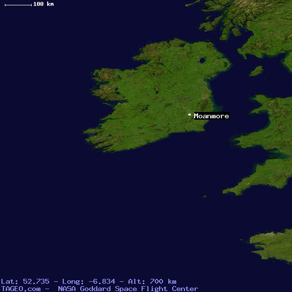 Moanmore Carlow Ireland Geography Population Map Cities Coordinates