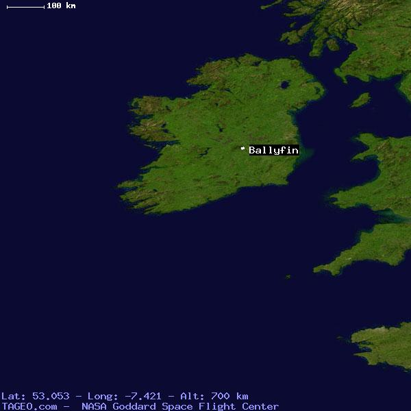 BALLYFIN LAOIS IRELAND Geography Population Map cities coordinates