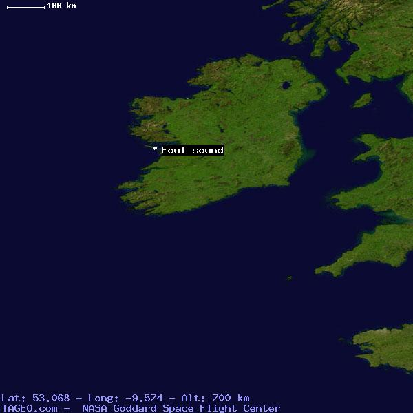 Foul sound galway ireland geography population map cities satellite view of foul sound freerunsca Image collections