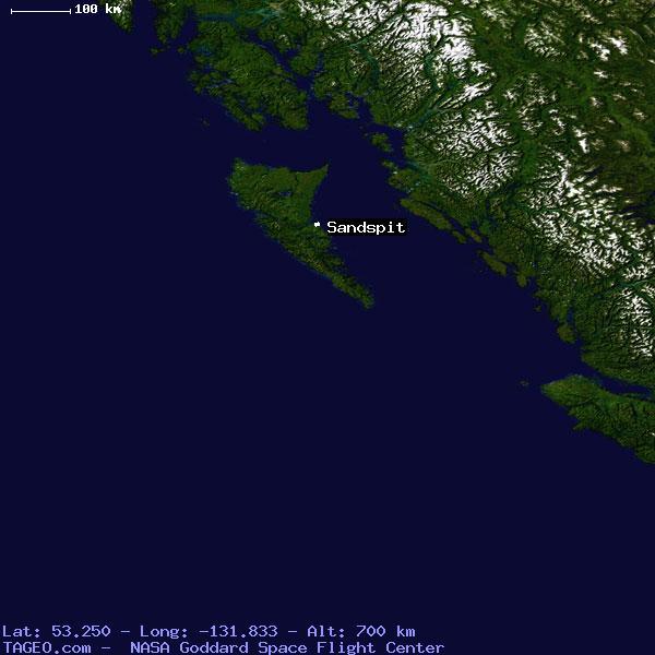 Map Of Sandspit British Columbia Canada SANDSPIT BRITISH COLUMBIA CANADA Geography Population Map cities
