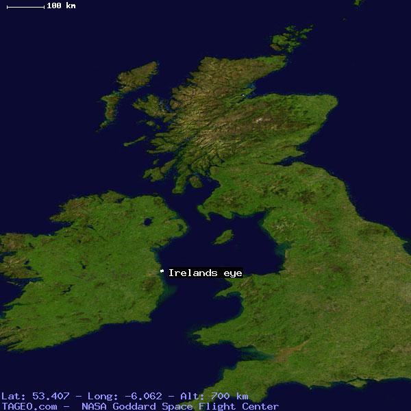Satellite Map Of Ireland.Irelands Eye Dublin Ireland Geography Population Map Cities