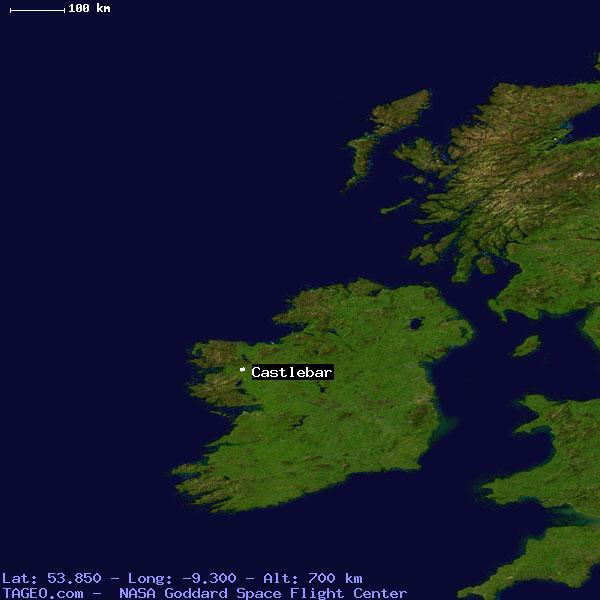Castlebar Mayo Ireland Geography Population Map Cities Coordinates