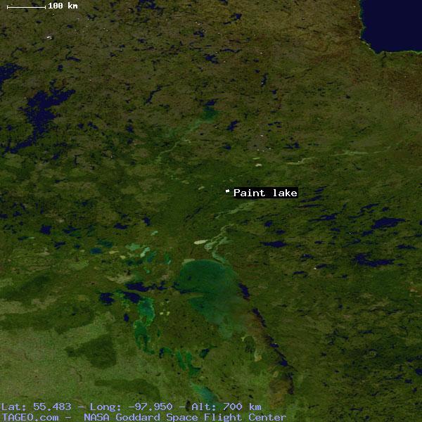 PAINT LAKE MANITOBA CANADA Geography Population Map Cities - Map of manitoba canada cities