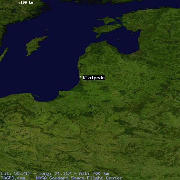 KLAIPEDA KLAIPEDOS APSKRITIS LITHUANIA Geography Population Map - Klaipėda map
