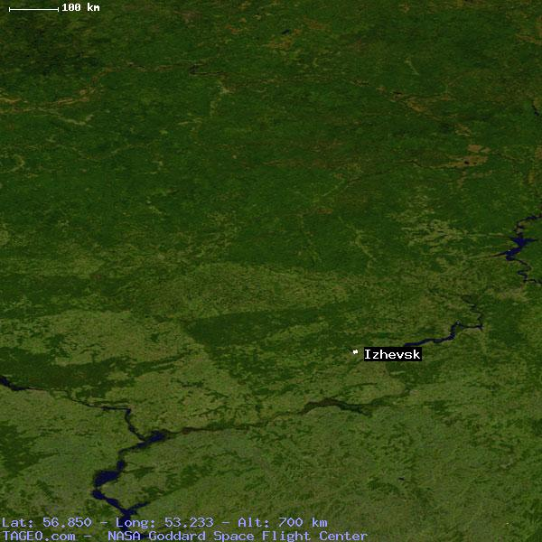 Satellite view of izhevsk
