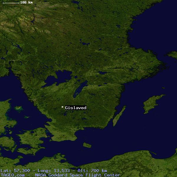 GISLAVED JONKOPINGS LAN SWEDEN Geography Population Map Cities - Sweden map coordinates