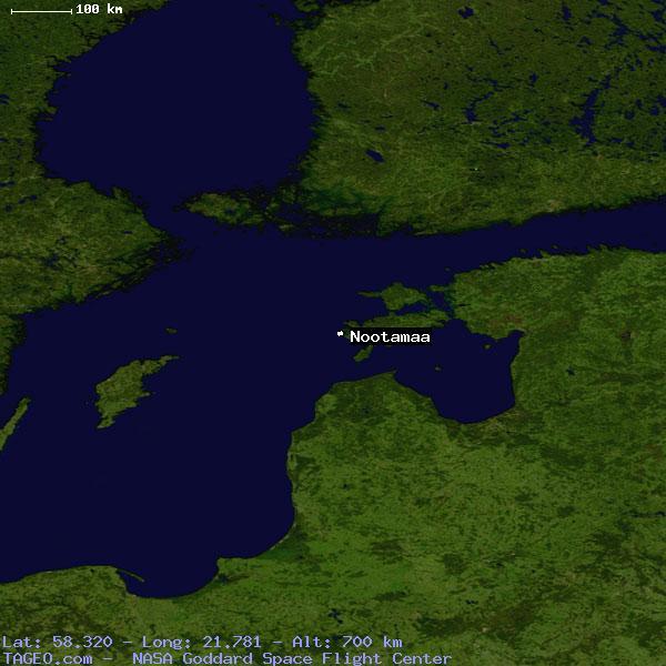 Nootamaa saaremaa estonia geography population map cities satellite view of nootamaa gumiabroncs Images