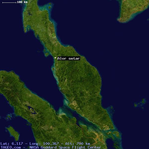 ALOR SETAR KEDAH MALAYSIA Geography Population Map Cities - Alor setar map