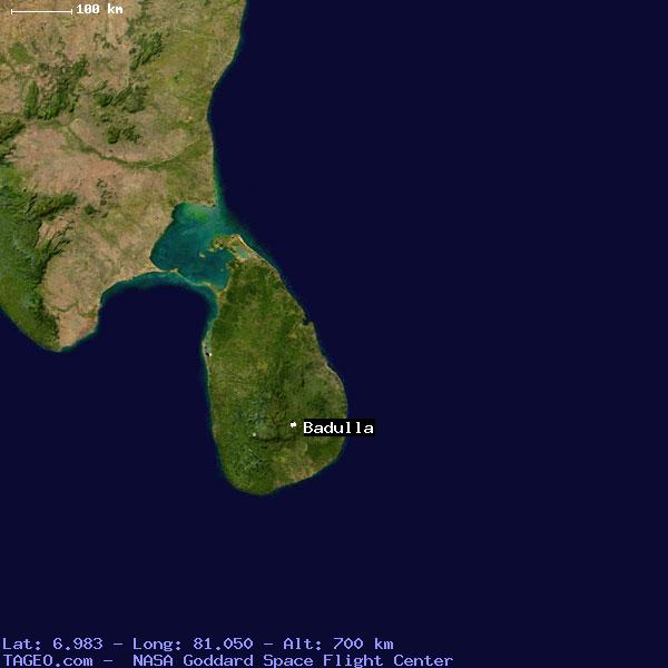 map of sri lanka with cities. Google maps view of Badulla