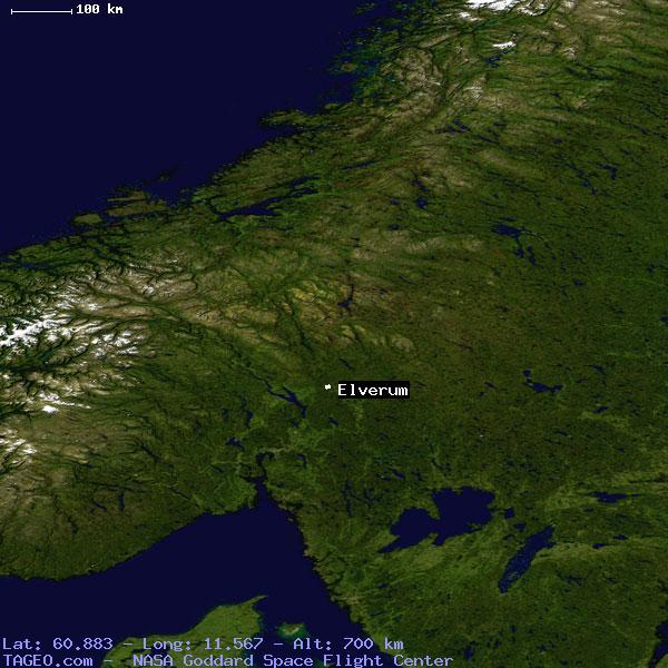 Elverum Norway  City new picture : ELVERUM HEDMARK NORWAY Geography Population Map cities coordinates ...