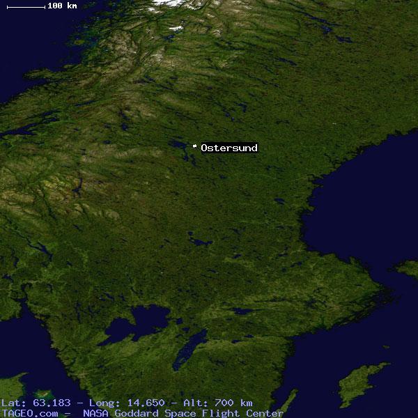 OSTERSUND JAMTLANDS LAN SWEDEN Geography Population Map Cities - Sweden map ostersund