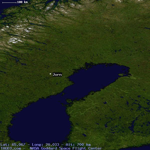 JORN VASTERBOTTENS LAN SWEDEN Geography Population Map Cities - Sweden terrain map
