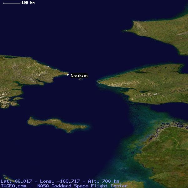 Satellite view of naukan