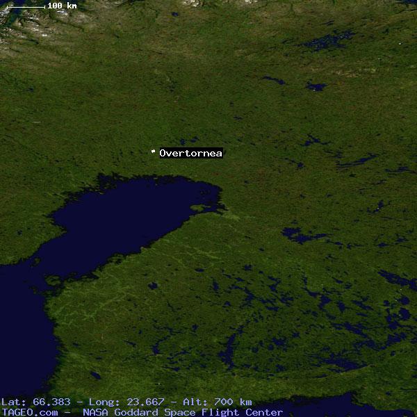 OVERTORNEA NORRBOTTENS LAN SWEDEN Geography Population Map Cities - Sweden terrain map