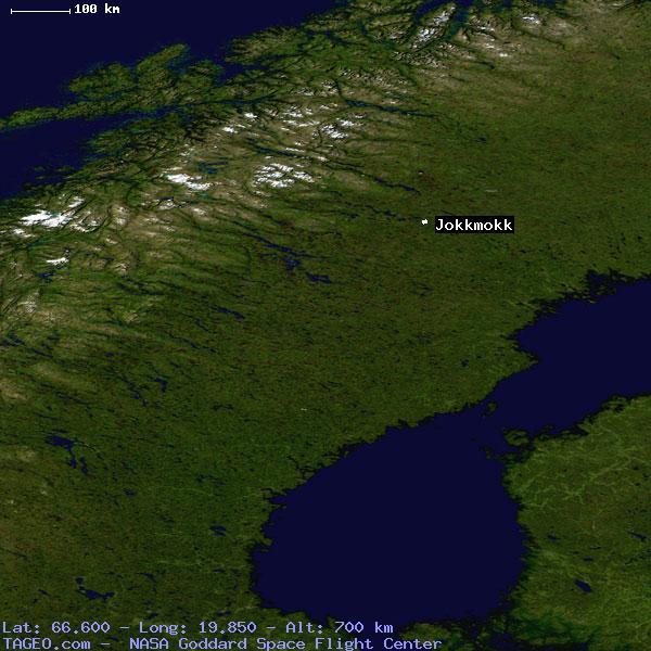 JOKKMOKK NORRBOTTENS LAN SWEDEN Geography Population Map Cities - Jokkmokk sweden map
