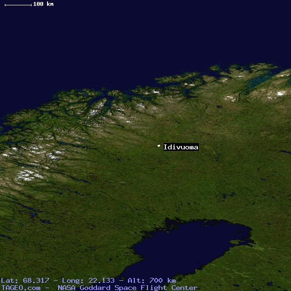 IDIVUOMA NORRBOTTENS LAN SWEDEN Geography Population Map Cities - Sweden terrain map